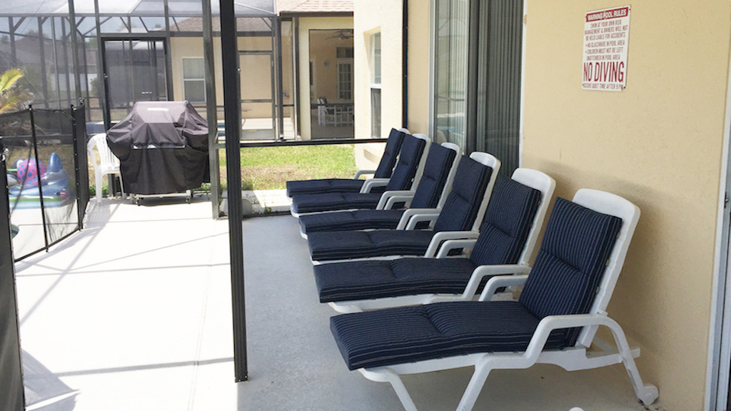 Sun Loungers in Patio
